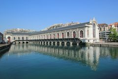 Batiment des Forces-Motrices, Geneva, Switzerland Stock Photography