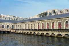 Batiment des Forces-Motrices, Geneva, Switzerland Stock Photos