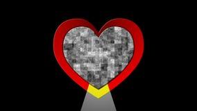 Batimento cardíaco video estoque