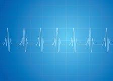 Batimento cardíaco no fundo azul ilustração royalty free