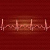 Batimento cardíaco vermelho. Fotografia de Stock Royalty Free