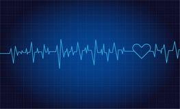 Batimentos cardíacos ou gráfico de vetor do pulso ilustração royalty free
