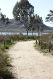 Batiquitos Lagoon Trails surrounding lake Stock Photo