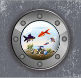 Batiskaf okno akwarium ilustracji