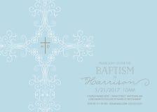 Batismo, batismo, comunhão, ou molde do convite da confirmação Foto de Stock Royalty Free