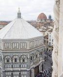 Batistério, domo, Florença, Itália Imagens de Stock
