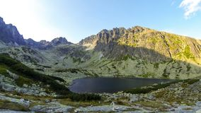 Batizovske Pleso lake in High Tatras mountains, Slovakia stock video