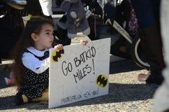 Batkid dringt San Francisco ein Lizenzfreie Stockfotos