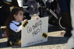 Batkid Invades San Francisco Royalty Free Stock Photos