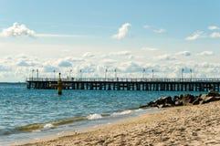 Batlic hav, Polen Arkivbilder
