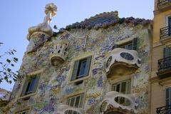 ³ Batllà Касы Gaudi в Барселоне стоковое фото