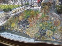 batllo-house-backyard-mosaics Royalty Free Stock Photos