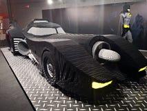 Batman και εισβολή έκθεσης BatMobile - Lego των γιγάντων στοκ εικόνες με δικαίωμα ελεύθερης χρήσης