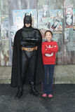 Batman with child. Gold Coast Australia August 2010, Batman with chinese little girl in warner bros movies world Stock Images