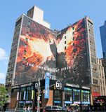 Batman The Dark Knight Rises. A large size advertisement on a building for the movie, Batman The Dark Knight Rises at Manhattan,NYC Stock Photo
