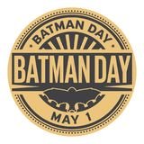 Batman Day stamp. Batman Day, May 01, rubber stamp, vector Illustration Stock Photo