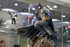 Batman Figure Model on display at The M Cafe stock photo