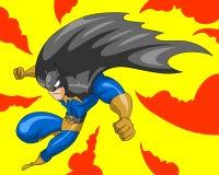 Batman listo para luchar y para ir a la acción stock de ilustración