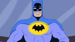 Batman met de animatie van Knuppelinsignes stock footage