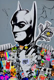 Batman. MONTREAL CANADA APRIL 08: Street art Montreal on april 08 2014 in Montreal Canada. Montreal. is the perfect place to walk in the back alleys and Stock Photography