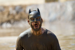 Batman screaminig Royalty Free Stock Images