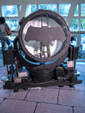 Batman signal. Batman costume on display as a promotion for the movie Batman v Superman: Dawn of Justice in Hong Kong royalty free stock images