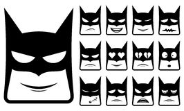 Batman smiley icons stock illustration
