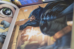 Batman superhero Dc comics. Batman is a fictional superhero appearing in American comic books published by DC Comics. The character was created by artist Bob Royalty Free Stock Photos