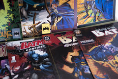 Batman superhero Dc comics. Batman is a fictional superhero appearing in American comic books published by DC Comics. The character was created by artist Bob Royalty Free Stock Images