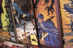 Batman superhero Dc comics. Batman is a fictional superhero appearing in American comic books published by DC Comics. The character was created by artist Bob Royalty Free Stock Photography
