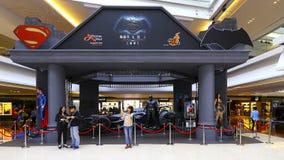 Batman v nadczłowiek: świt sprawiedliwości Hong promocyjny kong zdjęcia stock