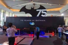Batmobile 75 år av Batman Royaltyfri Fotografi