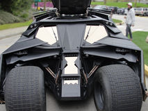 Batmobile från Batman den mörka riddaren Movie Royaltyfria Foton