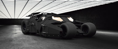 Batmobile hög torktumlare för res 3D royaltyfri illustrationer