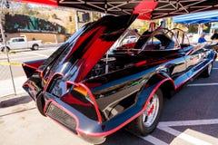 Batmobile negro y rojo 1966 Fotografía de archivo libre de regalías