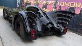 Batmobile - vista posterior del coche del Batman Imágenes de archivo libres de regalías