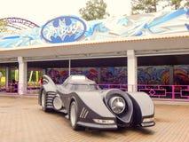 Batmobile w parku rozrywki zdjęcia stock