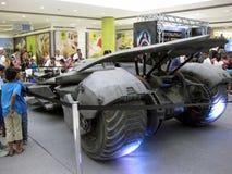 Batmobiletentoongesteld voorwerp, SM-Stadssan Jose del Monte wandelgalerij, Bulacan Royalty-vrije Stock Fotografie