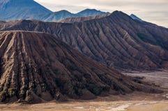 Batok山在Bromo腾格尔塞梅鲁火山国家公园 免版税图库摄影