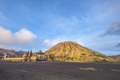 Batok d'or sur le bâti Bromo Photo stock
