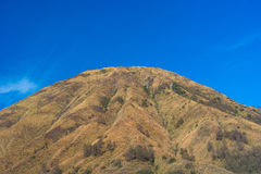 Batok mountain. With clear blue sky, Indonesia Royalty Free Stock Photos
