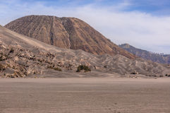 Batok mountain. And sand dune, Indonesia Royalty Free Stock Photography