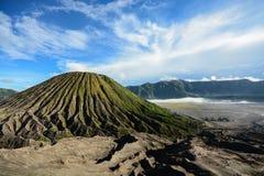 Batok volcano on East Java, Indonesia Stock Photos