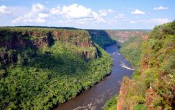 Batoka Gorge, Zambezi River, Zimbabwe. Batoka gorge on the Zambezi River is situated about 25km downstream from Victoria Falls, it is a popular white water Stock Image