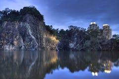 batokbukit guilin little parksingapore town Royaltyfri Bild
