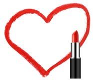 Batom com forma do coração Fotografia de Stock Royalty Free