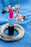 Batom cor-de-rosa Foto de Stock