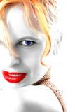 Batom e olhos Fotos de Stock Royalty Free