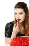 Batom vermelho Fotos de Stock Royalty Free