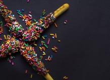 Baton de pain de chocolat image libre de droits